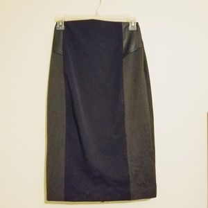 Express Pencil Skirt with leather details